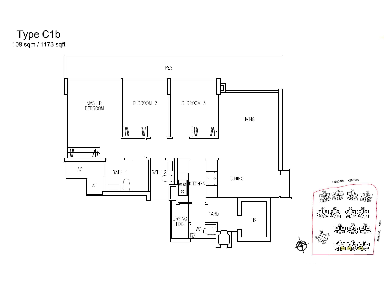3 bedroom a treasure trove a treasure trove floor plan district 19 new launches
